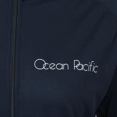 オーシャンパシフィック(Ocean Pacific) ロングスリーブ ZIPラッシュガード レディース 長袖 ジップ ラッシュガード 527461BLK(Lady's)