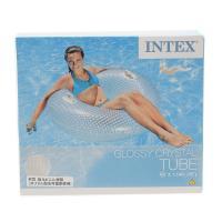 インテックス(INTEX) GlossyCrystalTube うきわ114cm 17 56264 (Men's、Lady's、Jr)