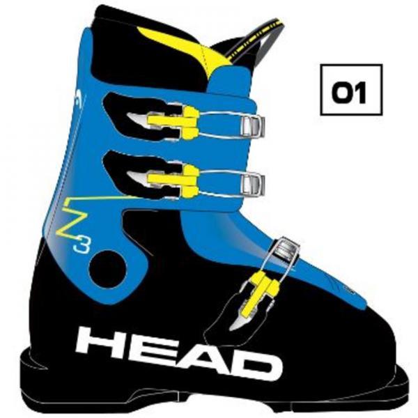 ヘッド(HEAD) Z3 BLUE ジュニア スキーブーツ(Jr)