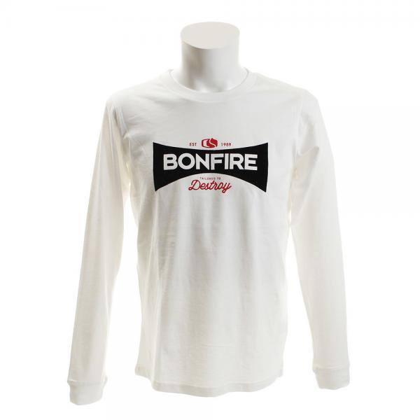 ボンファイア(Bonfire) SIGNBOARD ロングスリーブTシャツ SIGNBOARD ロングスリーブ WHT(Men's)