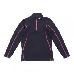 ミズノ(MIZUNO) ジュニア ブレスサーモエブリプラス ハーフジップシャツ Z2MA792076(Jr)