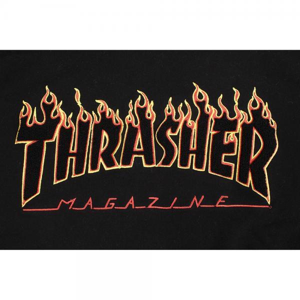 THRASHER スウェットパーカー FLAME HOODIE TH95130LTEBK(Men's)