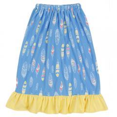 NIKKI KIDS 裾フリル 巻きタオル 128418SAX(Lady's)