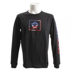 SESSIONS アメリカンボックス ロゴ長袖Tシャツ 187026 BLK(Men's)