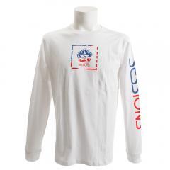 SESSIONS アメリカンボックス ロゴ長袖Tシャツ 187026 WHT(Men's)