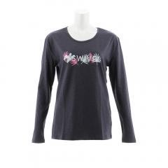 スウィベル(Swivel) LEAF INSPIRED 長袖Tシャツ 870SW8CD3395 GRY(Lady's)