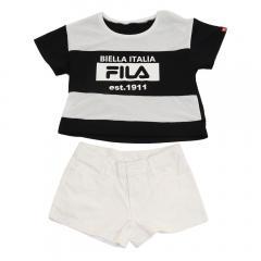 フィラ(FILA) メッシュ切り替えTシャツ セパレーツ水着 4点セット 129665BK(Jr)