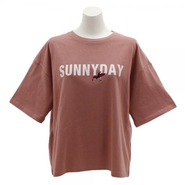 パワー・トゥ・ザ・ピープル(POWER TO THE PEOPLE) SUNNYDAYプリントTシャツ 9512514-15PNK(Lady's)