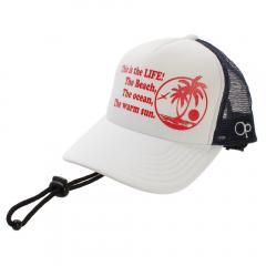 オーシャンパシフィック(Ocean Pacific) キッズ メッシュキャップ 568907-WHT(Jr)