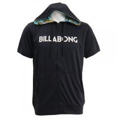 ビラボン(BILLABONG) 半袖ジップラッシュパーカー AJ011870 BLK(Men's)