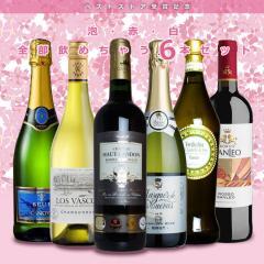 ベストストア受賞記念 スパークリングワイン 赤ワイン 白ワイン が楽しめる パーティーワイン6本セットの画像