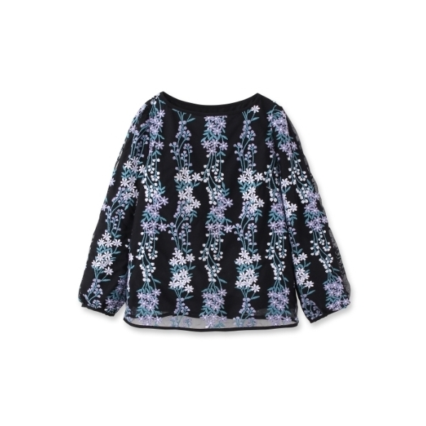 【Sサイズあり】フラワーチュール刺繍シャツ