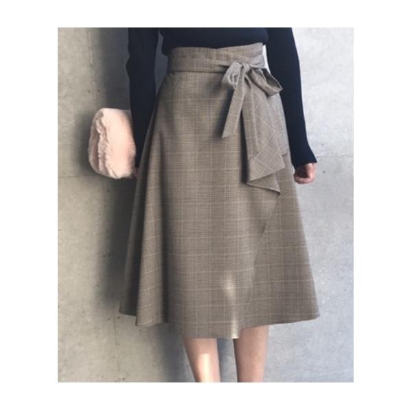 【WEB限定】グレンチェックフレアスカート