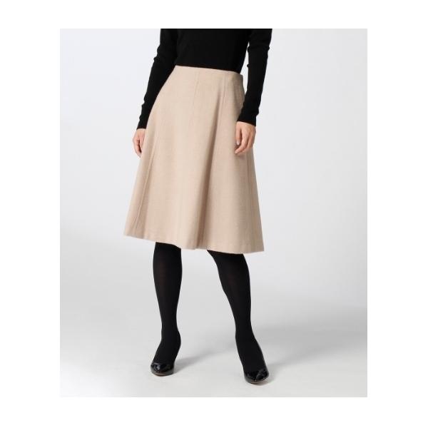 ウール混フレアスカート