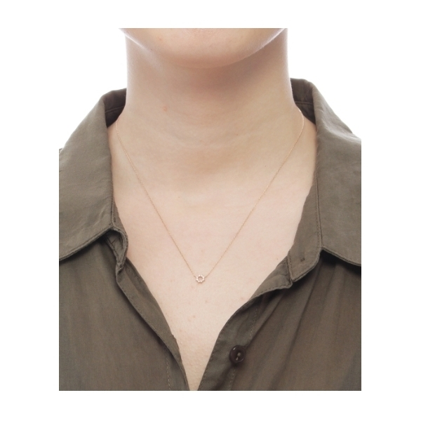ダイヤモンド 爪留めラウンド ネックレス
