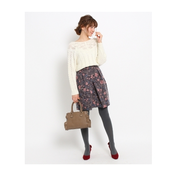 フローラルゴブラン風スカート