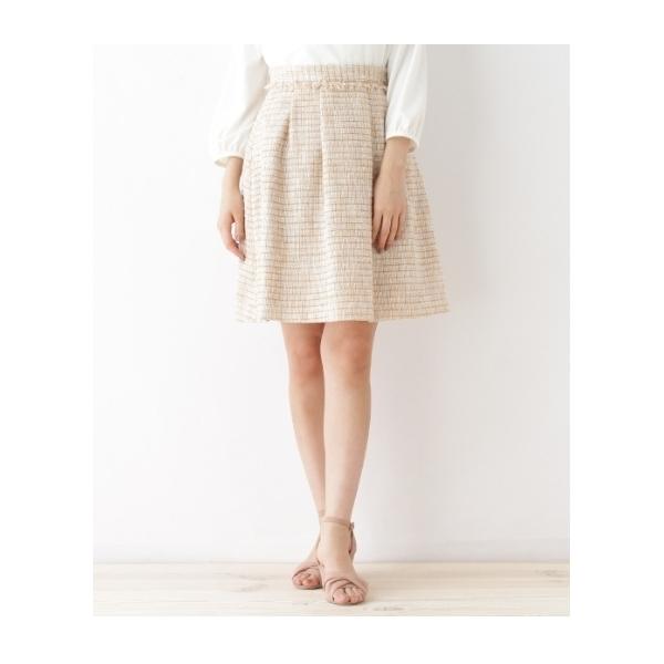 ファンシーラメツイードスカート
