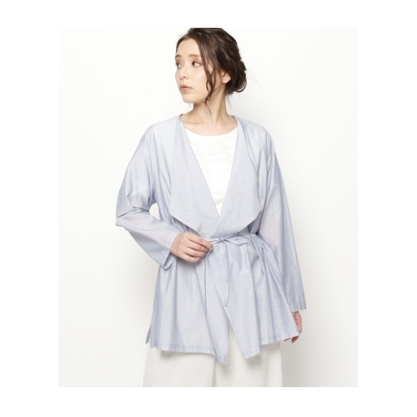 【洗える】ベルテッドドロストシャツ
