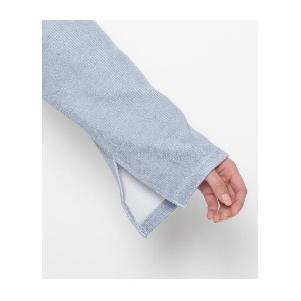 チョーカー付裾タックプルオーバー