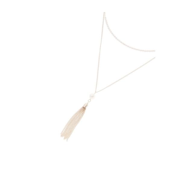 タッセルパール2連ネックレス