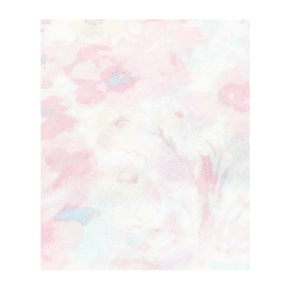 UVカットぼかし花柄フリンジストール