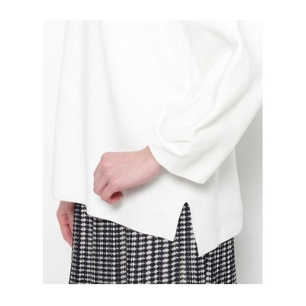 袖ねじりミラノリブニットプルオーバー
