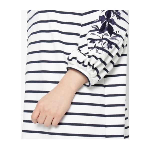 袖刺繍サックワンピース