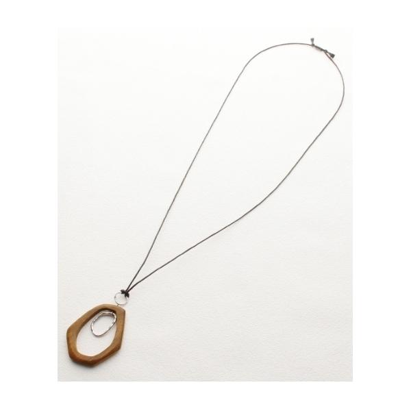 ◆ウッドパーツネックレス