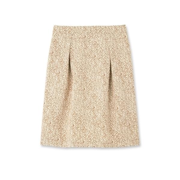 【洗える】[S]ヘリンボーンプリントスカート