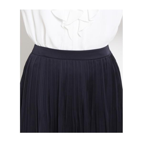 [S]消しプリーツサテンスカート