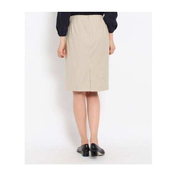 [L]ウールMIXタイトスカート