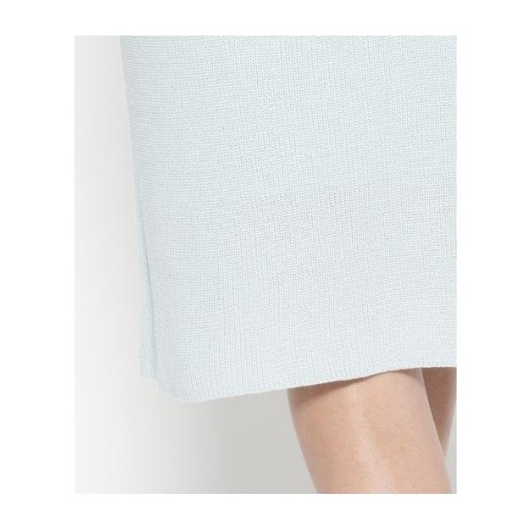 ベルト付き片畦ニットスカート