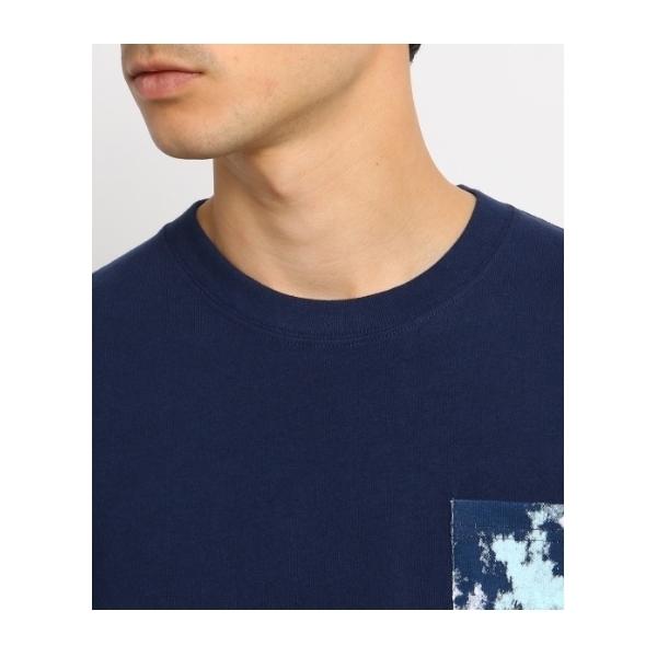 Tシャツ メンズ ポケット スプラッシュプリント クルーネック