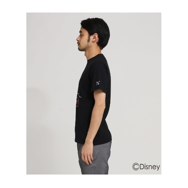 【WEB限定】 DISNEY ディズニー Tシャツ 筆記体ロゴ 半袖Tシャツ (ミッキーマウス)