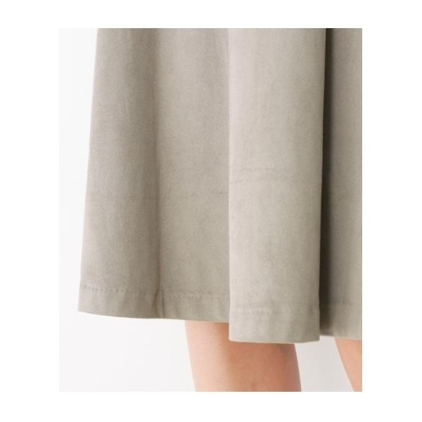 【洗える】スウェードタッチフレアスカート