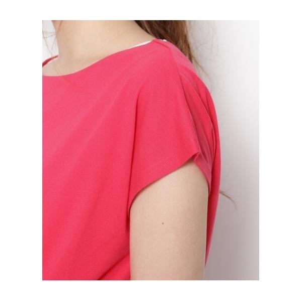 バックリボンTシャツ+タンクトップ