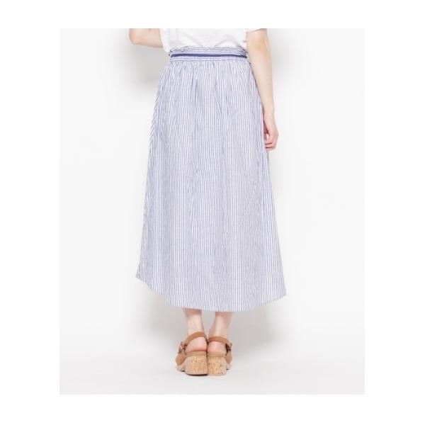 綿麻ポプリンイレギュラーヘムスカート