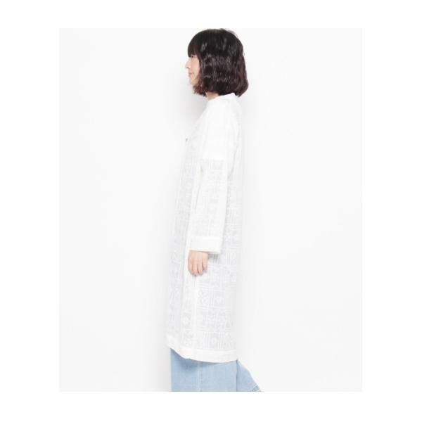 刺繍ガウンシャツ