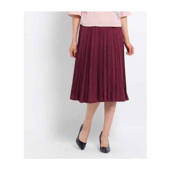 【洗える】CAPスエードスカート