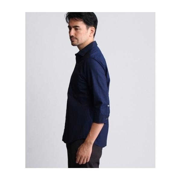 [TALL&LARGEサイズ]クレイジーパターンブロッキングシャツ