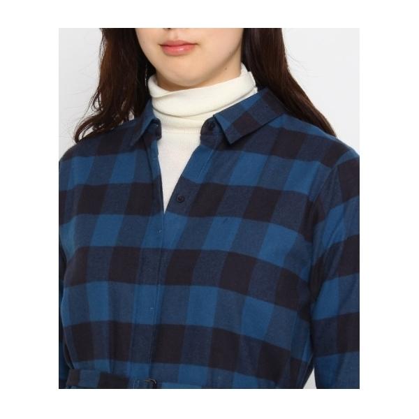 [L]ベルテッドブロックシャツ