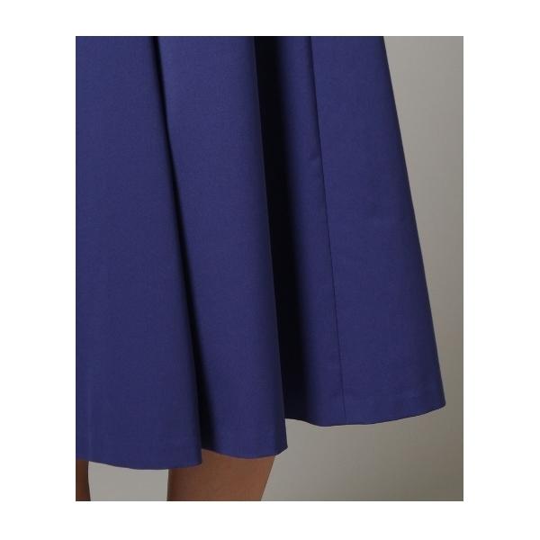 【洗える】ツイルミディフレアスカート