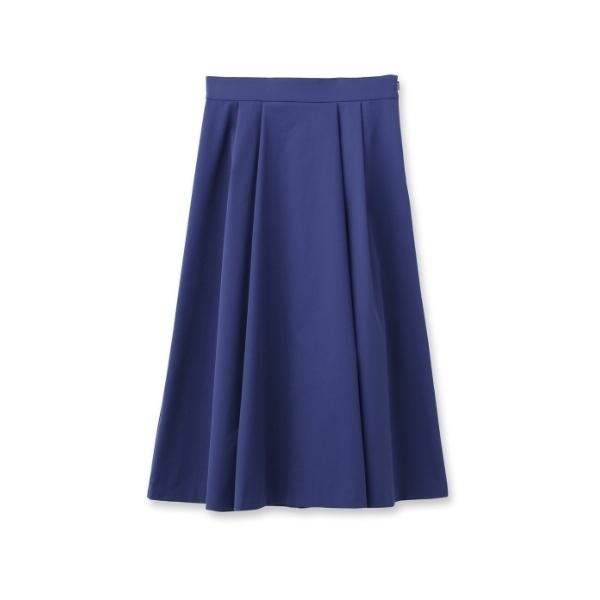 [L]【洗える】ツイルミディフレアスカート