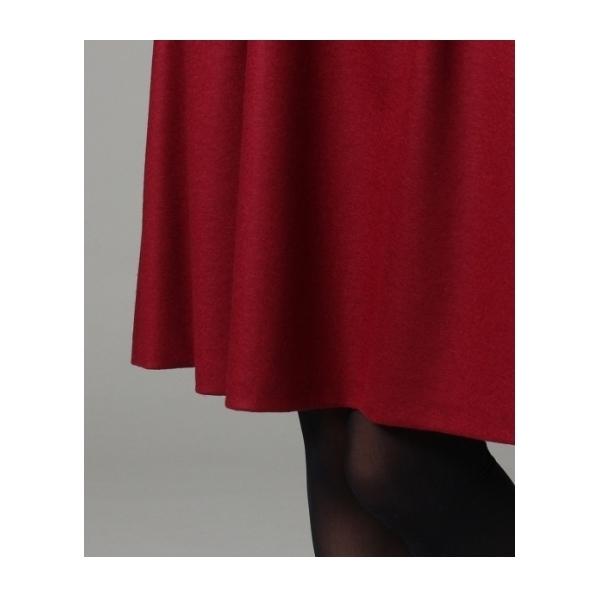 [L]ウールフレアスカート