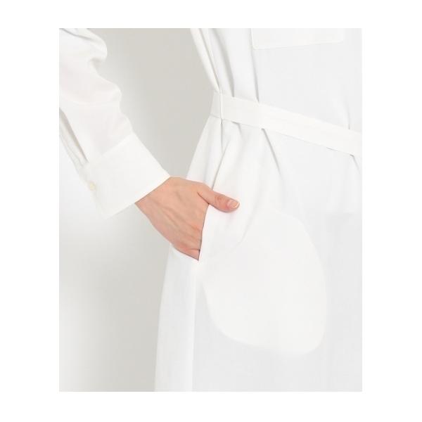 [L]〔洗える〕フラップポケットシャツワンピース