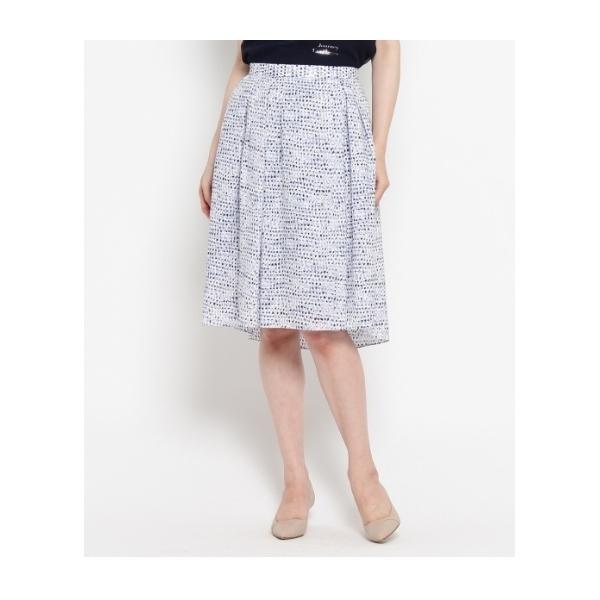 〔洗える〕シニャックドットプリントスカート