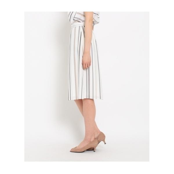 [L]〔洗える〕【WEB限定色あり】サテンストライプスカート