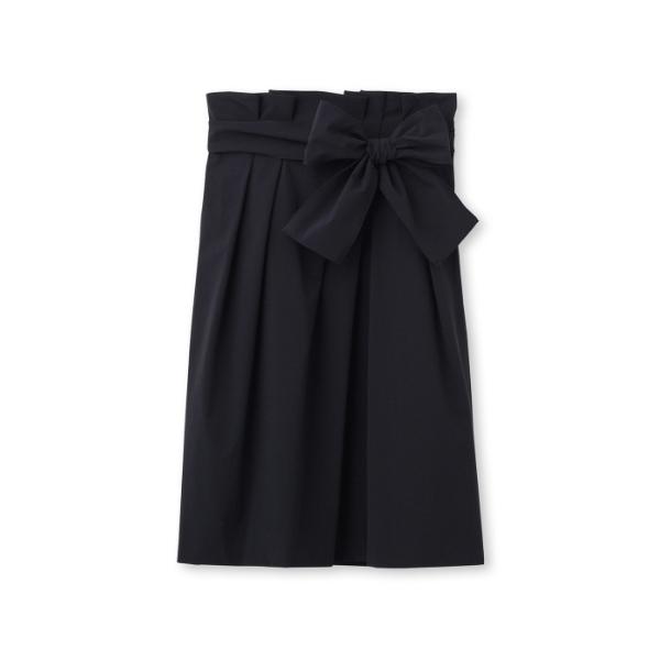 〔洗える〕ウエストリボンコクーンスカート