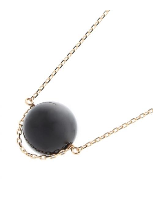 カラーボール(オニキス) ネックレス