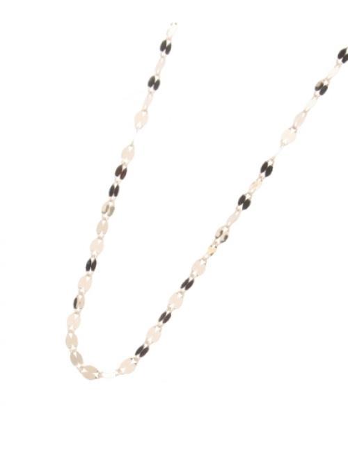 (K18)フラワークロスチェーン ネックレス